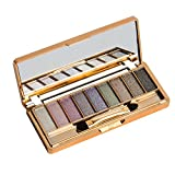Happy Hours - 9 Colors Bling Diamond Cosmetic Eye Shadow Super Flash Set / Makeup Tools Glitter Sparkling Eyeshadow Concealer Palette with Brush and Mirror(#1)