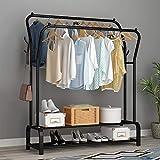 UDEAR Garment Rack Freestanding Hanger Double