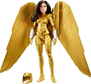 Mattel Wonder Woman 1984 Golden Armor Doll (~12-inch) in Light-Up Armor, Collectible Superhero Doll for 6 Year