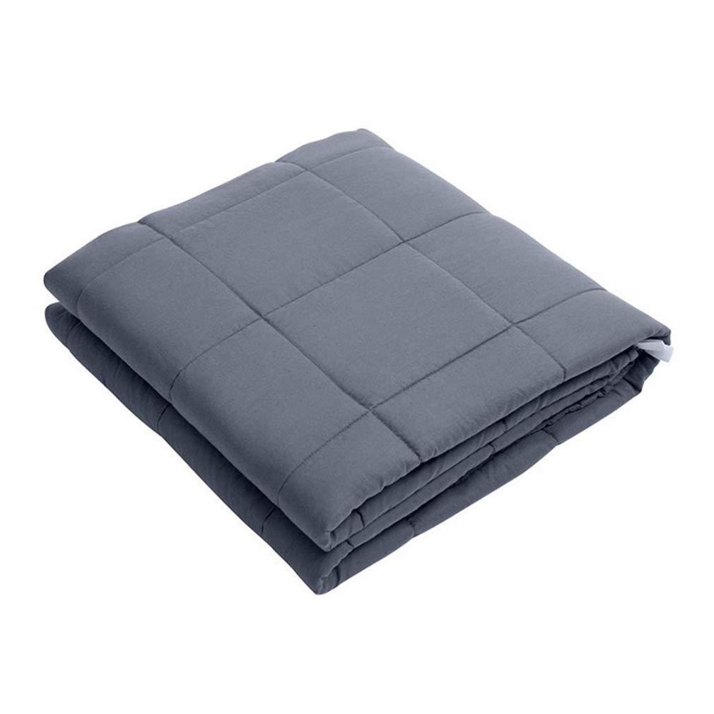 BEDLININGS Manta Pesada, 100% Material de algodón con Cuentas de Vidrio Niños Adultos Gris,153  203cm20pounds