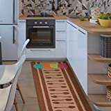 CqmzpdiC Home Kitchen Cocktail Cup Tea Set Anti-Slip Door Mat Floor Entrance Rug Carpet Rectangle Shape Soft Water-Absorption Durable Mildew Resistant Comfortable Practical Doormat 3 50 * 120cm