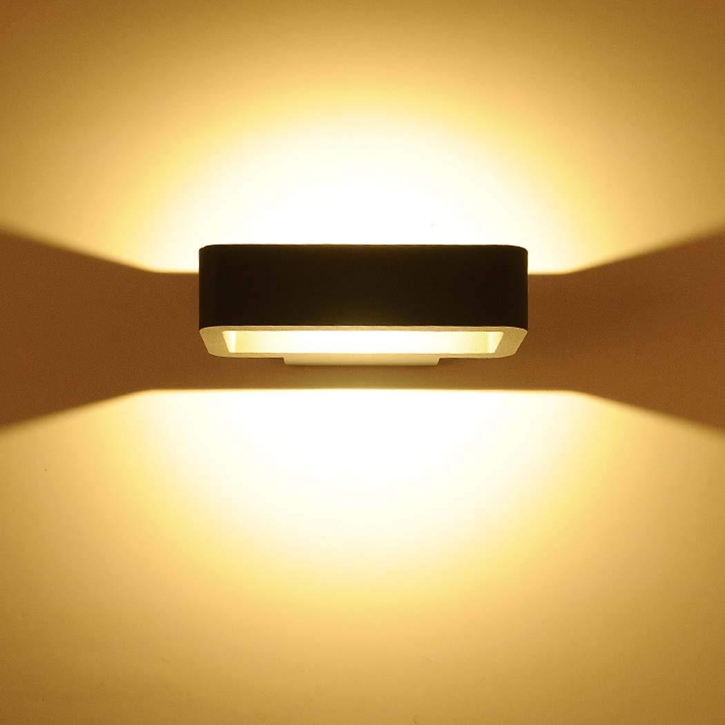 Applique da parete a LED per esterni, 10W, 90-260V, lampada da parete e applique in lega di alluminio impermeabile, corridoio Corridoio balcone scale luce notturna paesaggio, 500-600 (lm),warmlight
