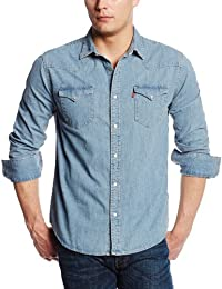 Men's Standard Barstow Denim Western Snap-Up Shirt