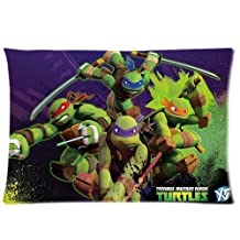 PbP Custom Tmnt Teenage Mutant Ninja Turtles Zippered Pillowcase Covers Standard Size 20X30 Inch (Two Sides)