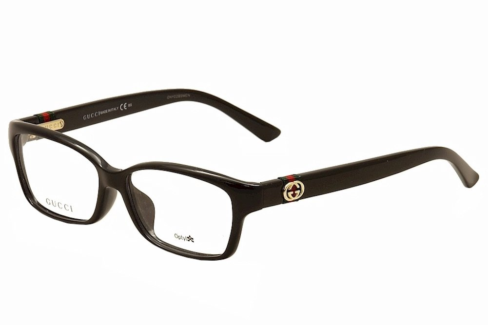084b12f623e4 Amazon.com: Gucci GG 3670/F Shiny Black Eyeglass Frames: Health & Personal  Care