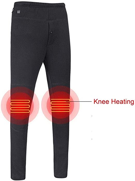 USB Heated Outdoor Hiking Winter Thermal Trousers Heating Pants for Women Men