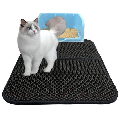 Huntfgold Katzenstreu Matte Doppelte Schichte Faltbare Groß Katzenklo Matte wasserdichte rutschfest Katze Katzenklo…
