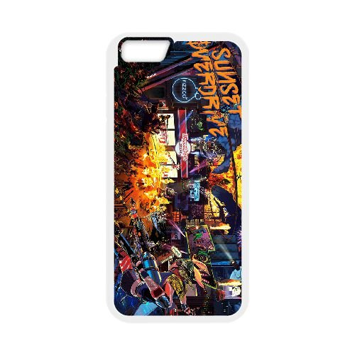 Sunset Overdrive 10 coque iPhone 6 Plus 5.5 Inch cellulaire cas coque de téléphone cas blanche couverture de téléphone portable EEECBCAAN05689