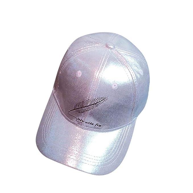 Weimilon Gorra para Hombre Y Mujer para Mujer Hombre con Pluma Estilo único Sombrero Plano Gorra