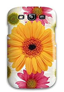New Fashion Premium Tpu Case Cover For Galaxy S3 - Pedestal Flowers