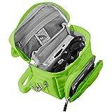 Orzly Travel Bag für alle Nintendo DS Konsole Modell Versionen mit Faltbarer Bildschirm (Original DS / 3DS / DS Lite / 3DS XL / DSi / New 3DS / New 3DS XL / 2DS XL / etc.) - Tasche enthält: Schultergurt + Tragegriff + Gürtelschlaufe + Fächer für Zubehör (Spiele / Stifte / Lade Kabel / Amiibo / etc.) - GRÜN