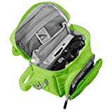 Orzly Travel Bag for Nintendo DS Consoles (New 2DS XL / 3DS / 3DS XL/New 3DS / New 3DS XL/Original DS/DS Lite/DSi/etc.) - Includes Belt Loop, Carry Handle, Shoulder Strap - GREEN