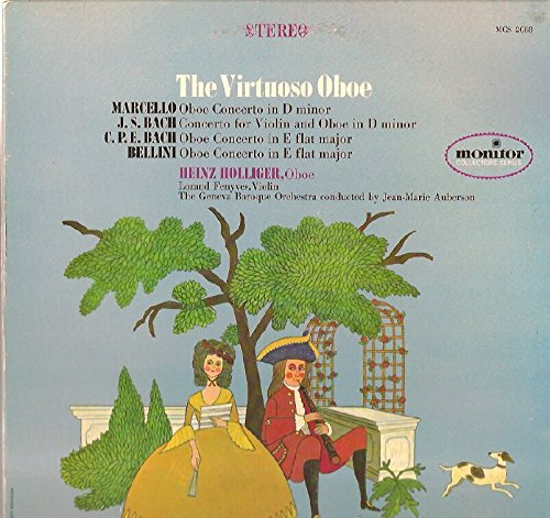 (Heinz Holliger / Jean-Marie Auberson: The Virtuoso Oboe LP VG++/NM USA Monitor)
