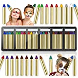 Face Painting Kits for Kids, HOLOMY 24 Colors Safe & Non-Toxic Face Paint Crayons, Face & Body Washable Paint Sticks...