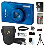 Canon PowerShot ELPH 520 HS 10.1MP CMOS Digital Camera in Blue + 16GB Micro SDHC + Replacement NB-9L + Focus Multi Card Reader + Mini HDMI Cable + Accessory Kit