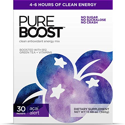 🥇 Pureboost Clean Energy Drink Mix + Immune System Support. Sugar-Free Energy with B12