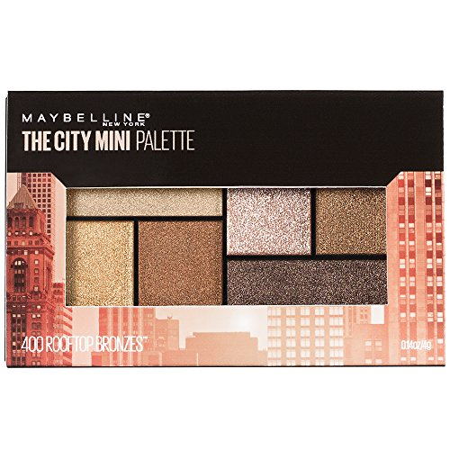 Maybelline New York Makeup The City Mini Eyeshadow Palette, Rooftop Bronzes Neutral Eyeshadow, 0.14 oz