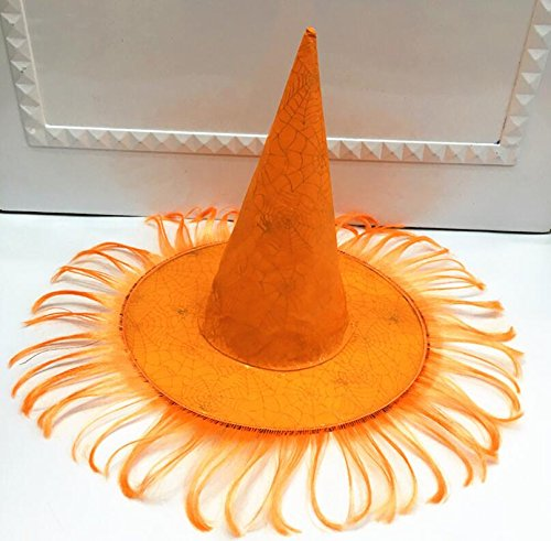 (Classic Cute Party Ornament Halloween Props Wig High Top Cap Wizard Hat with Cobweb)