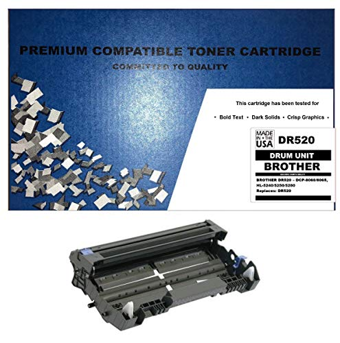 ALL CITY USA REMANUFACTURED Drum Unit Replacement for Brother DR520 - DCP-8060/8065/5240/5250/5280