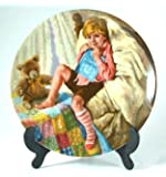 Reco Diddle Diddle Dumpling plate from John McClelland's Mother Goose series - CP1238