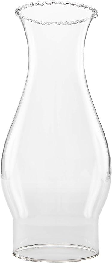 Clear Glass Chimney Vintage Kerosene Hurricane Oil Lamp Shade Lantern Globe New