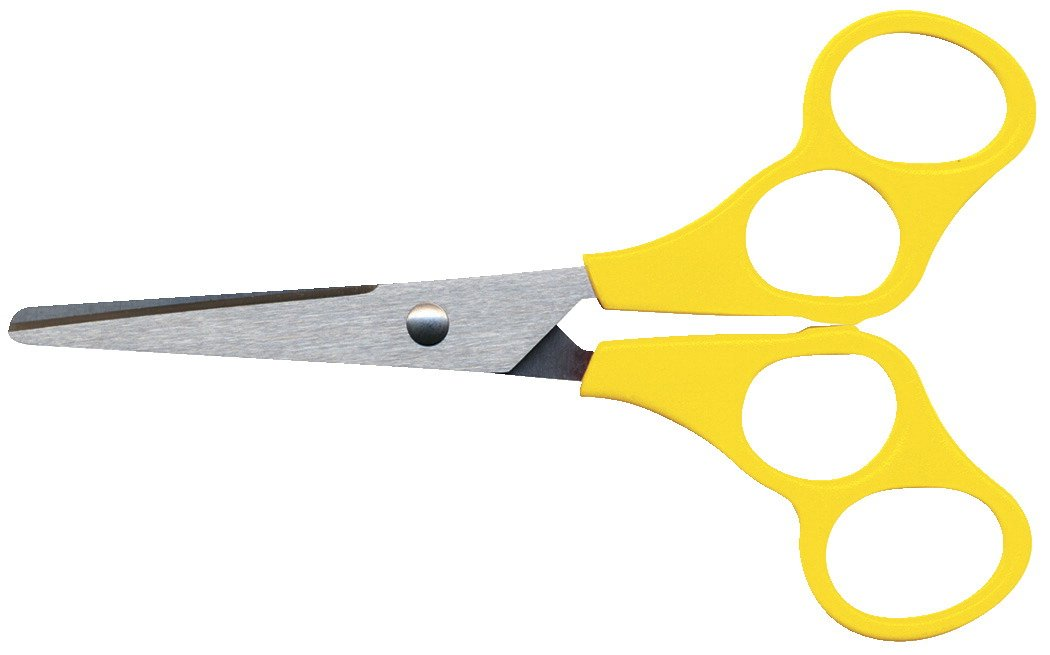 School Smart V-Shape Training Scissors, Blunt Tip, 5 Inches, Yellow
