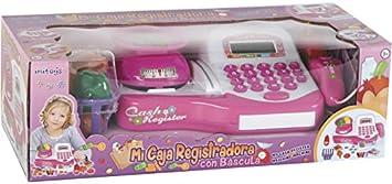 IMITOYS Caja Registradora Rosa con Luces, Sonidos, Báscula y Accesorios 10x25x17 cm: Amazon.es: Juguetes y juegos