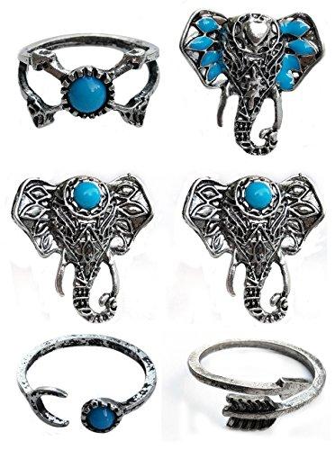 Suyi Vintage Geometry Turquoise Antlers