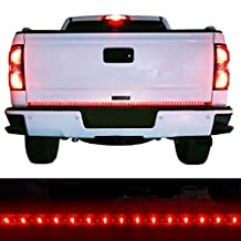 Moongo Red/white Tailgate LED Strip Light Bar Truck Reverse Brake Turn Signal Tail for Ford GMC Sierra Chevy Silverado 1500 2500 3500 Chevrolet Dodge Ram Toyota Nissan Honda Truck SUV 4x4