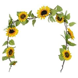 Amazon.com: 6' Elegant Silk Sunflowers Garland Bridal ...