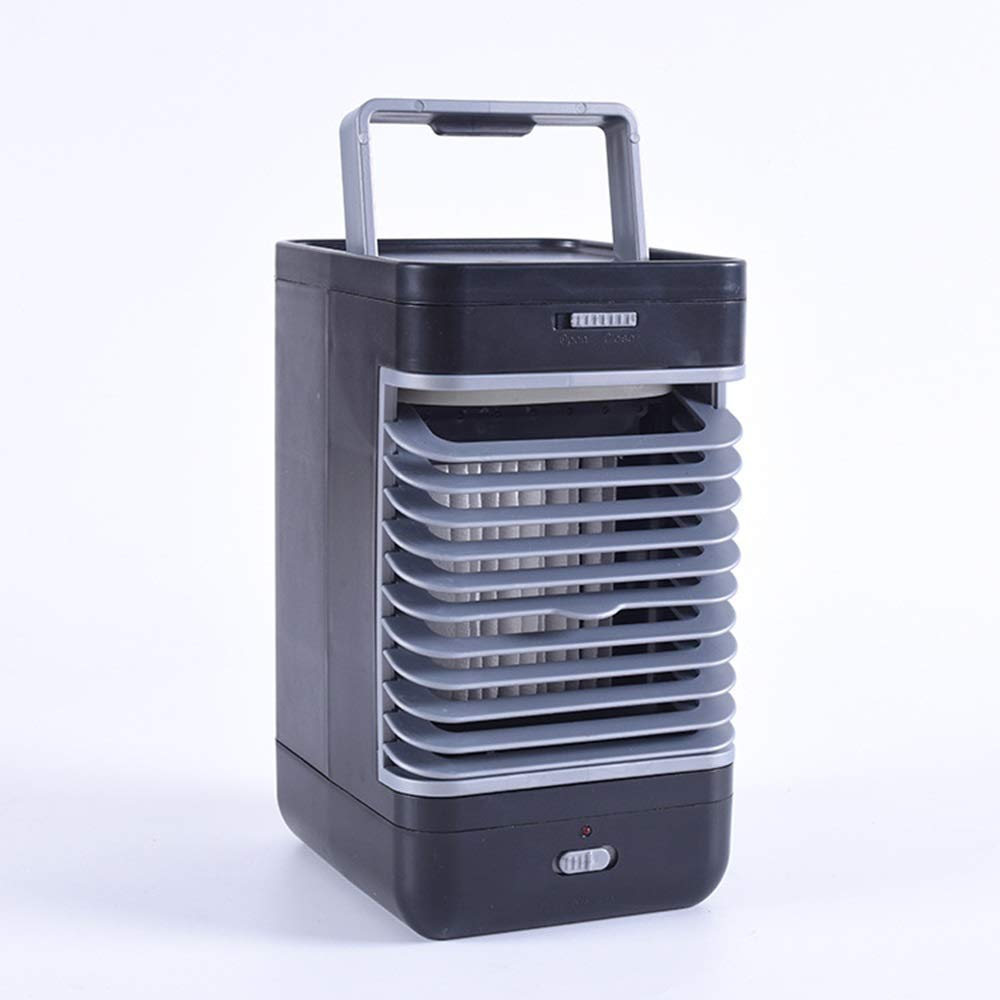 Mini Portable Air Cooler,Desktop Chiller Home Chiller Office Bedroom Chiller, for Bedroom, Office (Color : Black) by In This Space