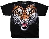 Liquid Blue Men's Tiger Face T-Shirt, Black, X-Large