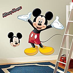 Roommates Rmk1508gm Mickey Mouse Peel & Stick Giant Wall Decal