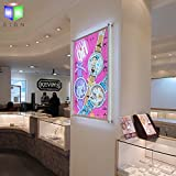 Acrylic Crystal Led Photo Frame Light Box For Office Store Sign Display With Wall Mounted
