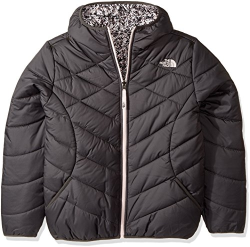 The North Face Girl's Reversible Perrito Jacket - Graphite Grey - L (Past Season) by The North Face