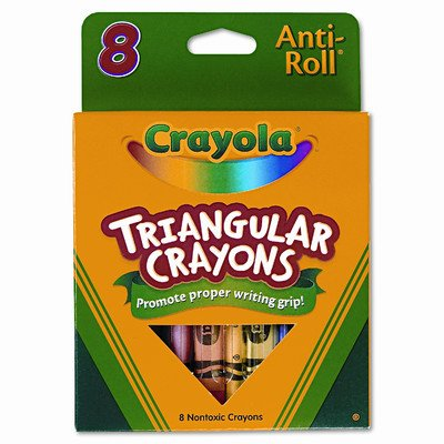 Triangular Crayons (8/Box) [Set of 3]