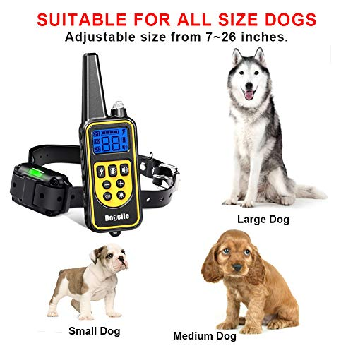 YISENCE Shock Collar for Dogs, Dog Shock Collar with Remote 2500FT Range, Waterproof and Rechargeable, Beep, Vibrate and Shock, Dog Training Collar with Remote by YISENCE (Image #4)