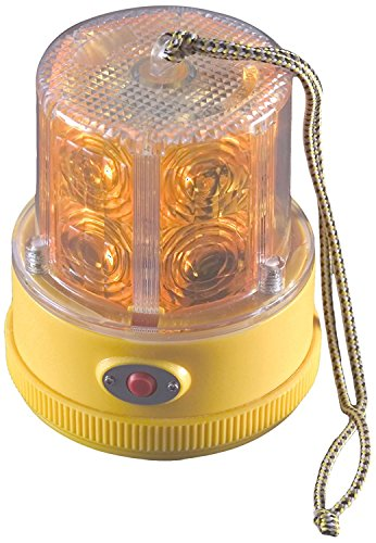 North American Signal PSLM2-A LED Personal Safety Warning Light with Magnetic Mount, Battery Operated, Amber ()