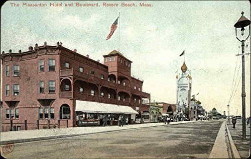 The Pleasanton Hotel and Boulevard Revere Beach, Massachusetts Original Vintage Postcard (Revere Hotel compare prices)