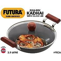Hawkins Futura Hard Anodised Aluminium Deep Fry Pan, 2.5 litres, Black (AFFK25G)