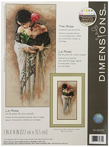 Dimensions The Rose Counted Cross Stitch Kit, 70-35331 (Cross Woman Stitch Counted)