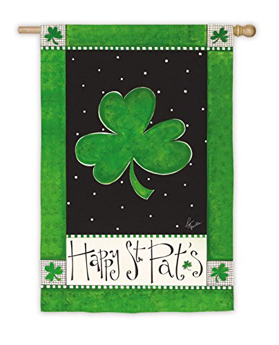 Happy St. Pat's Green Clover House Flag Review