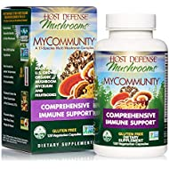 Host Defense, MyCommunity Capsules, Advanced Immune Support, Mushroom Supplement with Lion's Mane, Reishi, Vegan, Organic, Gluten Free, 120 Capsules (60 Servings)