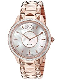 GV2 by Gevril Women's 1701 Carrara Analog Display Swiss Quartz Rose Gold Watch