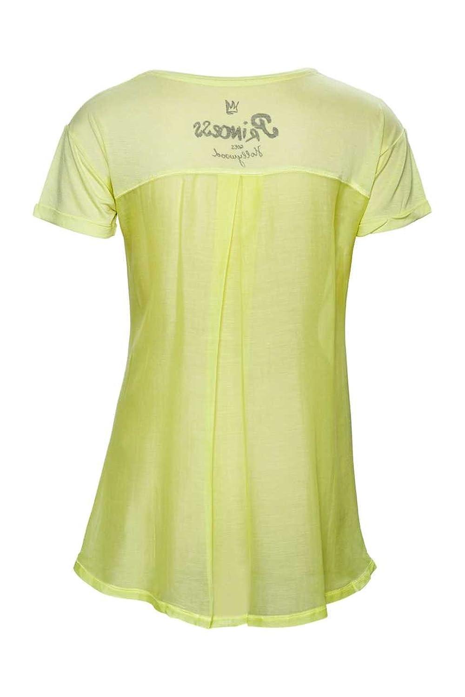 Shoppen Sie Princess Goes Hollywood Damen Shirt Kurzarm-Shirt A TEE, Farbe:  Gelb, Größe: 40 auf Amazon.de:T-Shirts