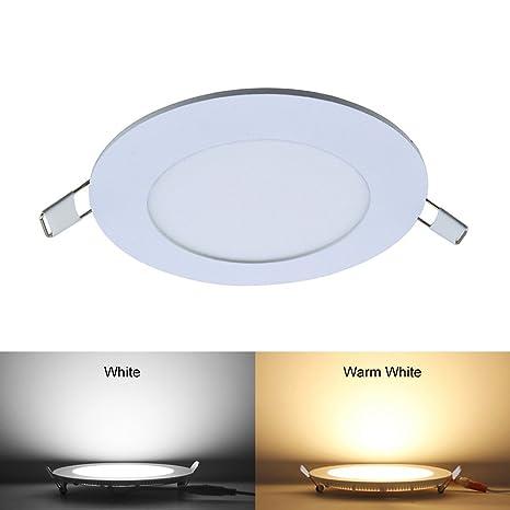 Amazon.com: Lixada Ultra delgada 18 W empotrable lámpara de ...