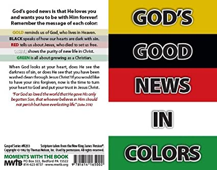 graphic regarding Wordless Book Gospel Printable referred to as Gods Superior Information Within just Colours (Packet of 100, NKJV)