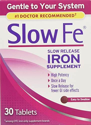 Slow Fe Caplets, 30 Count (Pack of 3) (Best Over The Counter Iron Supplements For Anemia)