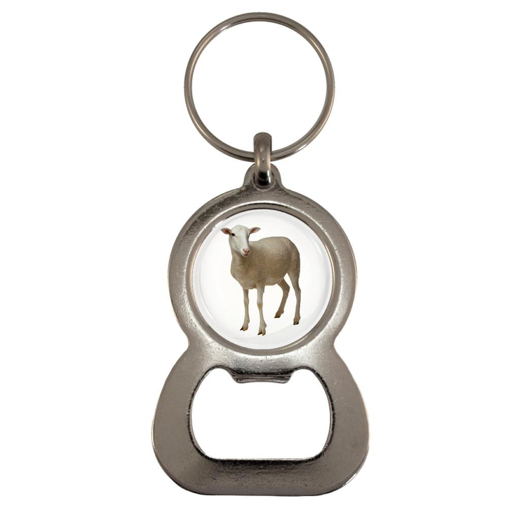 Lamb Image Design Metal Bottle Opener Keyring
