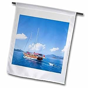Danita Delimont - Boats - Boat, Turkish yacht Gulet, Gocek, Fethiye bay, Turkey-AS37 AKA1346 - Ali Kabas - 18 x 27 inch Garden Flag (fl_70699_2)